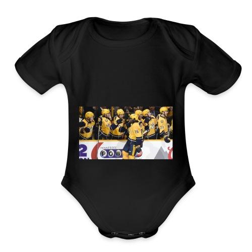 subban pk 2 - Organic Short Sleeve Baby Bodysuit