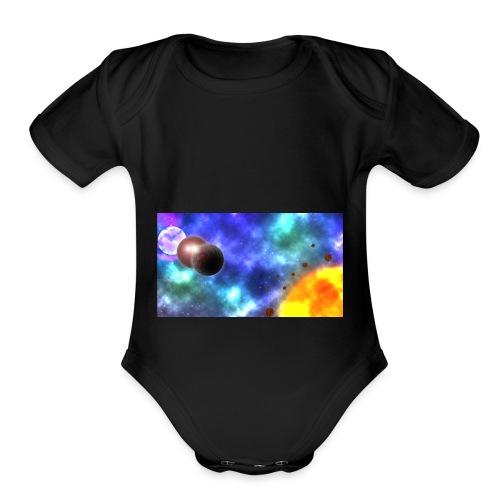 Custom-made planets - Organic Short Sleeve Baby Bodysuit