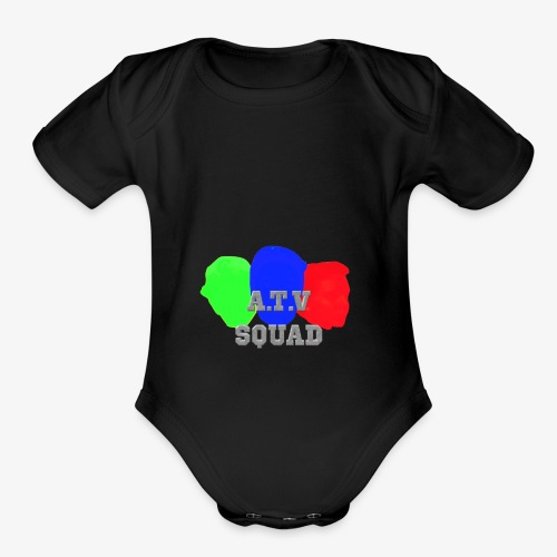 A.T.V Squad Merch - Organic Short Sleeve Baby Bodysuit