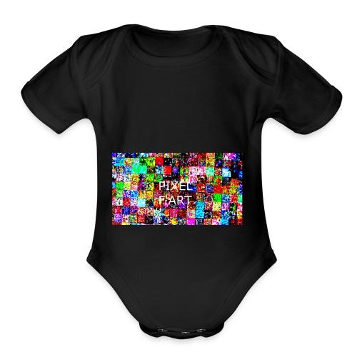 Pixel FArt - Organic Short Sleeve Baby Bodysuit