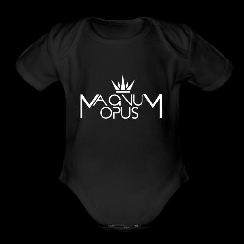 MOCC Magnum Opus WHT - Organic Short Sleeve Baby Bodysuit