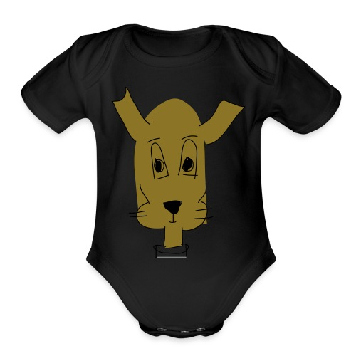 ralph the dog - Organic Short Sleeve Baby Bodysuit