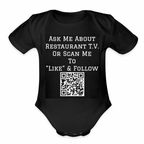 Restaurant T.V. - Back - Organic Short Sleeve Baby Bodysuit