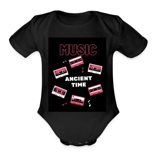 Music Ancient time - Organic Short Sleeve Baby Bodysuit