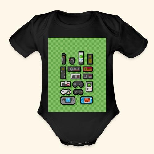 controller handy - Organic Short Sleeve Baby Bodysuit