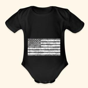 Digi-Camo American Flag - Short Sleeve Baby Bodysuit
