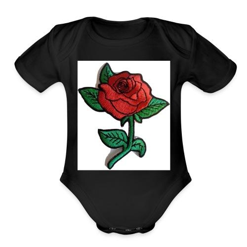 t-shirt roses clothing🌷 - Organic Short Sleeve Baby Bodysuit