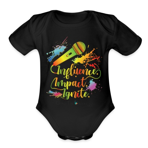 Influence.Impact.Ignite - Organic Short Sleeve Baby Bodysuit