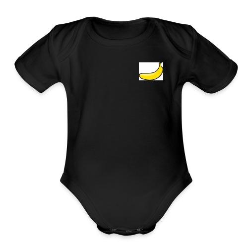 banana - Organic Short Sleeve Baby Bodysuit