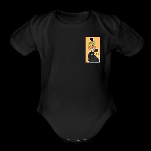 MythzLogo - Organic Short Sleeve Baby Bodysuit