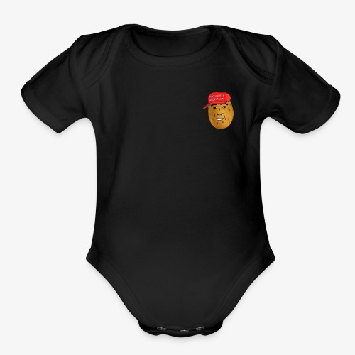 maga potato logo - Organic Short Sleeve Baby Bodysuit
