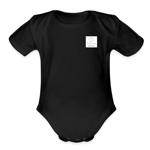 Baby Blue Logo - Organic Short Sleeve Baby Bodysuit