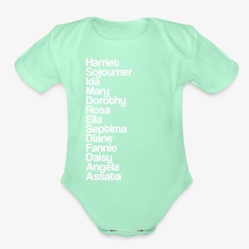 freedomfighterswhite - Organic Short Sleeve Baby Bodysuit