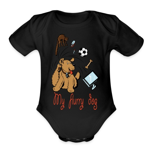 MY CUTE FURRY DOG PERFECT GIFT - Organic Short Sleeve Baby Bodysuit