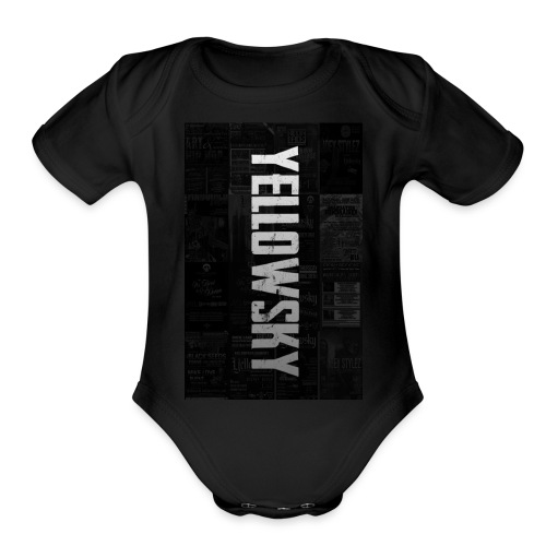 Yellowsky Collage - Organic Short Sleeve Baby Bodysuit