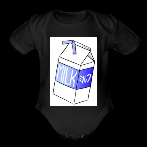 Box of milk - Organic Short Sleeve Baby Bodysuit