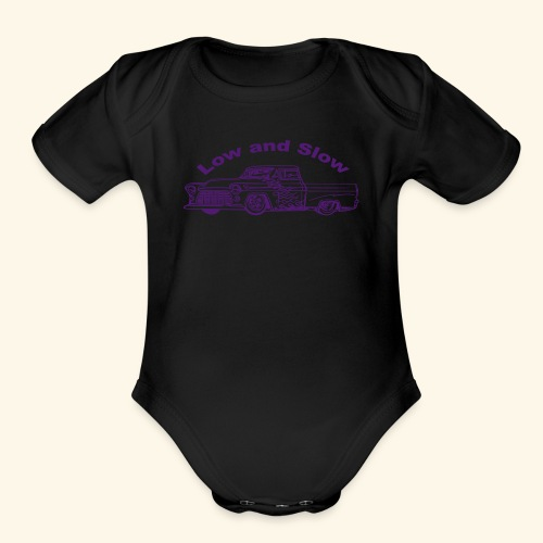 Low and Slow - Organic Short Sleeve Baby Bodysuit
