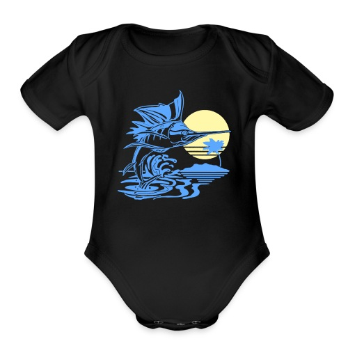 Sailfish - Organic Short Sleeve Baby Bodysuit