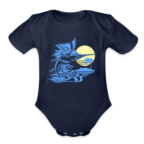 Sailfish - Organic Short Sleeve Baby Bodysuit