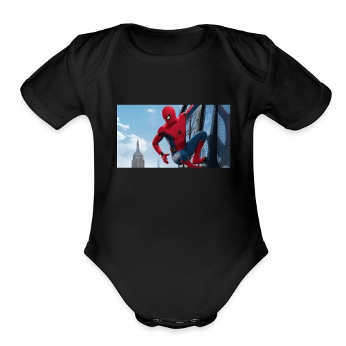 spider man homecoming - Organic Short Sleeve Baby Bodysuit