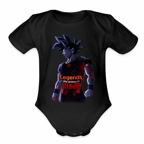 Goku Legends Blood - Organic Short Sleeve Baby Bodysuit