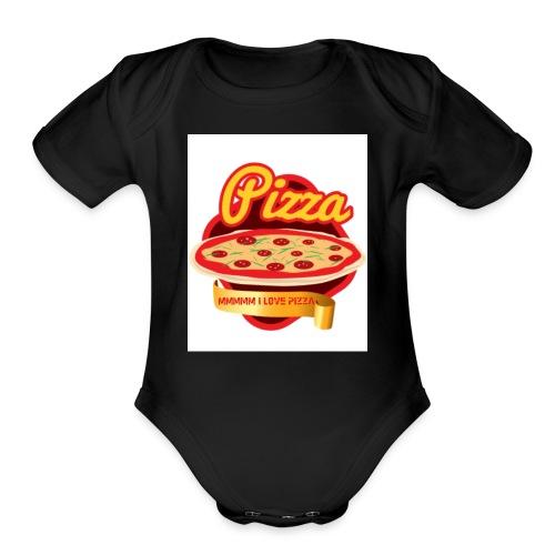 Ummm I love Pizza! - Organic Short Sleeve Baby Bodysuit