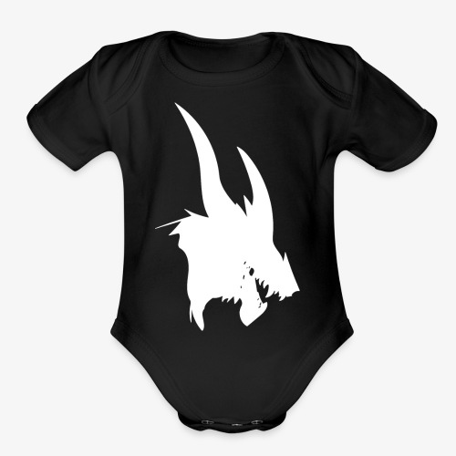 dragon sil - Organic Short Sleeve Baby Bodysuit