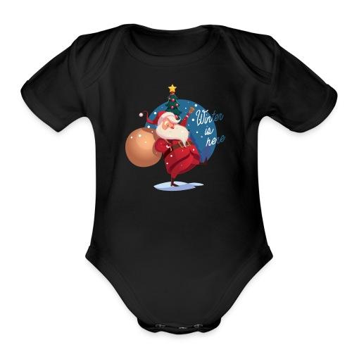 Winter is here - Organic Short Sleeve Baby Bodysuit