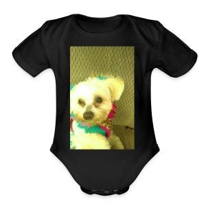 SAVEGE DOGE - Short Sleeve Baby Bodysuit