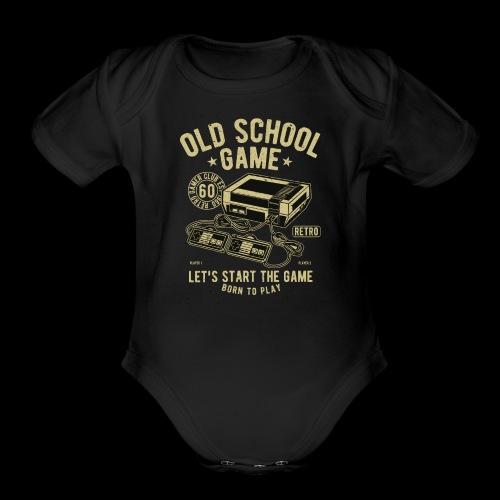 Old School Gamer - Organic Short Sleeve Baby Bodysuit