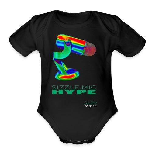 Sizzle Mic Hype - Organic Short Sleeve Baby Bodysuit