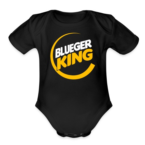 Blueger King - Organic Short Sleeve Baby Bodysuit