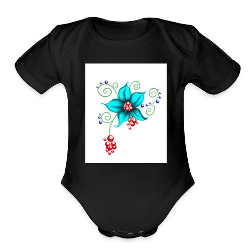 Blooms - Organic Short Sleeve Baby Bodysuit