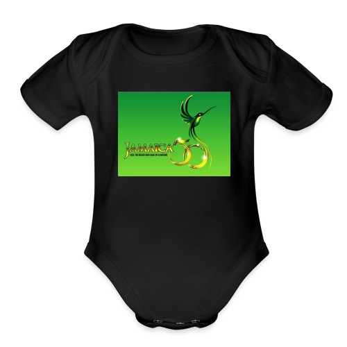 Jamaica 50 bird t shirt - Organic Short Sleeve Baby Bodysuit