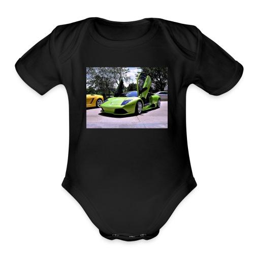 cool man - Organic Short Sleeve Baby Bodysuit