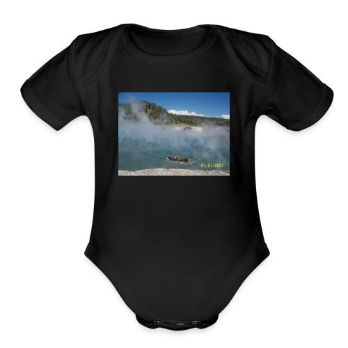 Mist - Organic Short Sleeve Baby Bodysuit