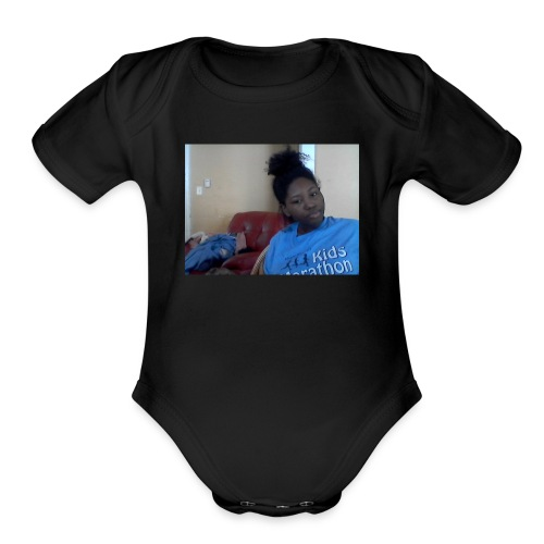 stop lying - Organic Short Sleeve Baby Bodysuit