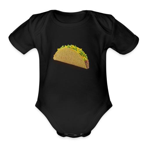 foodcrispybeeftaco - Organic Short Sleeve Baby Bodysuit