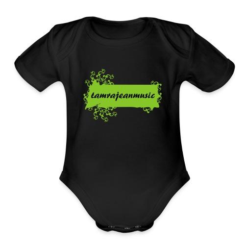 Toxic green - Organic Short Sleeve Baby Bodysuit