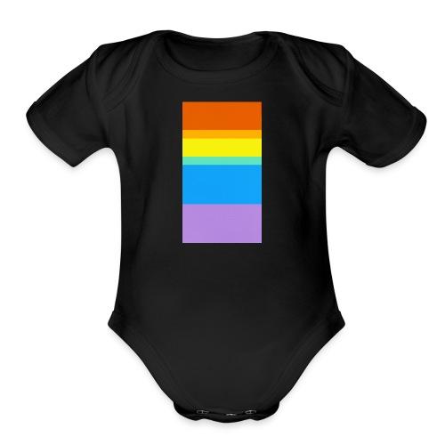 Modern Rainbow - Organic Short Sleeve Baby Bodysuit