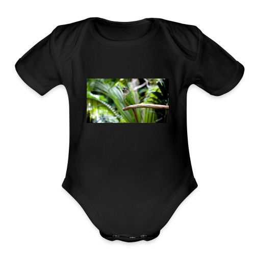 green cheek - Organic Short Sleeve Baby Bodysuit