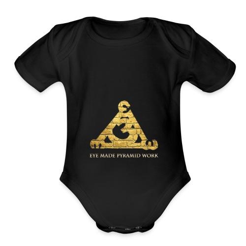 Eye Made Pyramid Work - Organic Short Sleeve Baby Bodysuit