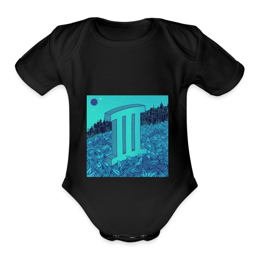 Currensy PilotTalk3 Artwork - Organic Short Sleeve Baby Bodysuit