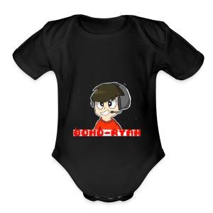 Official 80HD-Ryan Logo Merch - Short Sleeve Baby Bodysuit
