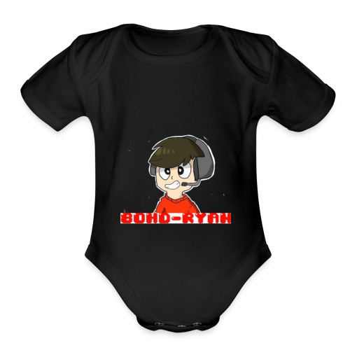 Official 80HD-Ryan Logo Merch - Organic Short Sleeve Baby Bodysuit