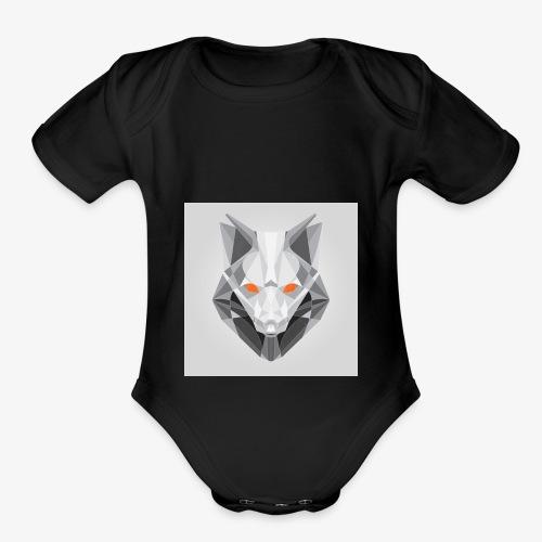 Endless Wolf Logo - Organic Short Sleeve Baby Bodysuit