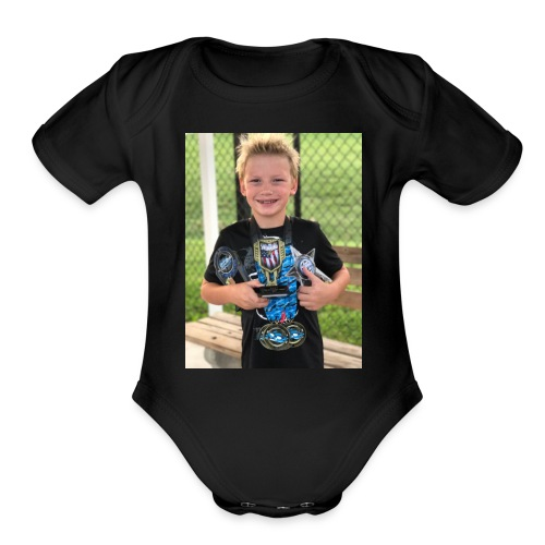 Jack swim shirt - Organic Short Sleeve Baby Bodysuit