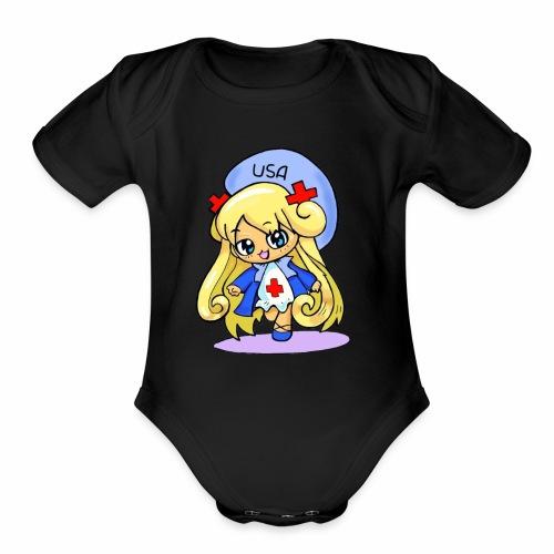 Nurse Nim - Organic Short Sleeve Baby Bodysuit