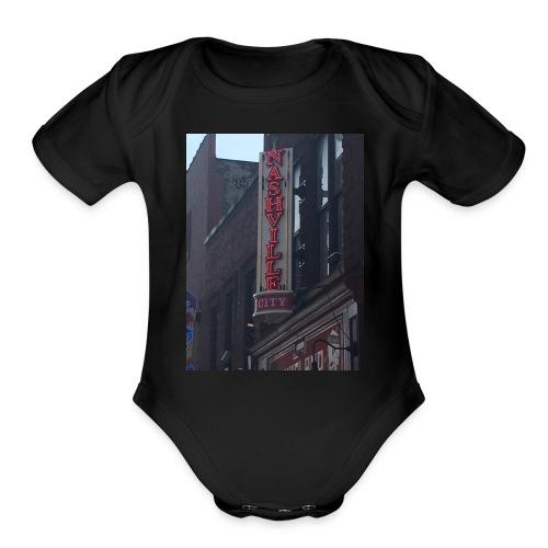 nashville - Organic Short Sleeve Baby Bodysuit