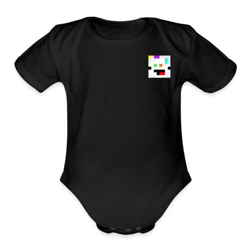 Face - Organic Short Sleeve Baby Bodysuit